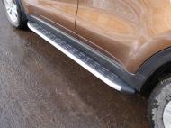 Пороги алюминиевые с пластиковой накладкой TCC KIASPORT18-37AL Kia Sportage 2018-