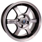 Диск колесный Venti 1501 6xR15 4x98 ET40 ЦО58.6 черный с полированной лицевой частью rd832380