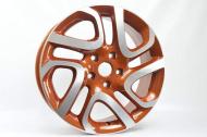 Диск колесный NEO 700 6.5xR17 5x114.3 ET50 ЦО66.1 оранжевый с полированной лицевой частью rd833589