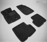 Коврики салона текстильные 3D, чёрные Seintex 83737 для Renault Duster 2011-