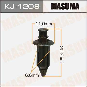Клипса автомобильная (автокрепеж), уп. 50 шт. Masuma KJ-1208