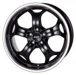 Диск колесный Alutec Boost 10,5xR20 5x120 ET35 ЦО72,6 черный с полированным ободом BO15035W12-4