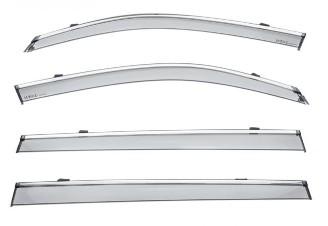 Дефлекторы окон из нержавеющей стали Zhejiang Benke BJACRFS523-W/S для JAC S5 (1G) 2013 -, S5