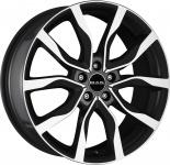 Диск колесный MAK Highlands 9,5xR20 5x120 ET40 ЦО72,6 черный глянцевый с полированной лицевой частью F9520HIBM40IR2
