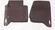 Коврики салона передние (резиновые, Cacao) 23452759 для Chevrolet Tahoe IV 2015-