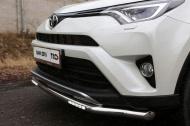 Защита передняя нижняя (с ДХО) 60,3 мм ТСС TOYRAV15-21  для Toyota RAV4 2015-