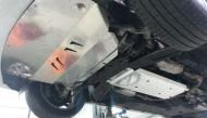Защита картера двигателя и КПП, алюминий (V-2,0 AT) 2 части АВС-Дизайн 15.28ABC Infiniti Q50 (1G) 2013-