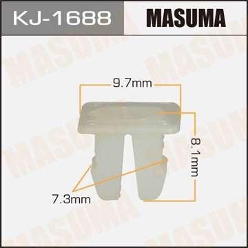 Клипса автомобильная (автокрепеж), уп. 50 шт. Masuma KJ-1688