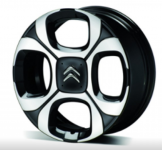 Диск колесный R17 Citroen Ever 1631731280 черно серый Citroen C3 Aircross 2018 -