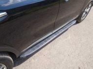 Пороги алюминиевые с пластиковой накладкой TCC KIASORPR18-26BL Kia Sorento Prime 2018-