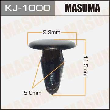 Клипса автомобильная (автокрепеж), уп. 50 шт. Masuma KJ-1000