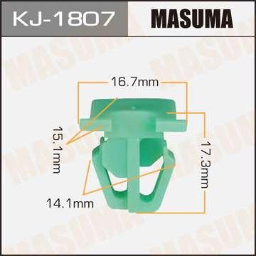 Клипса автомобильная (автокрепеж), уп. 50 шт. Masuma KJ-1807