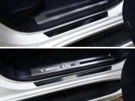 Накладки на пороги (лист зеркальный) Компания ТСС LEXLX450d15-03 Lexus LX 450d/LX 570 2015- (кроме F-Sport)