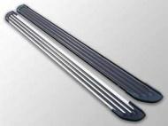 """Пороги алюминиевые """"Slim Line Silver"""" TCC HYUNSFGR16-36S Hyundai Santa Fe 2018-2020"""