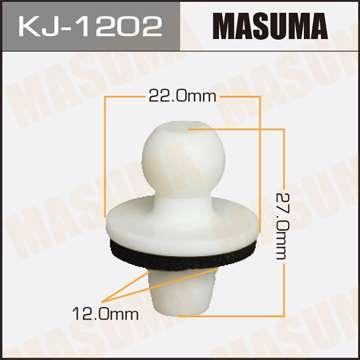 Клипса автомобильная (автокрепеж), уп. 50 шт. Masuma KJ-1202