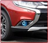 Линзованные противотуманные фары с ангельскими глазками Chaoliang для Mitsubishi Outlander 2015 -