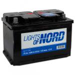 Аккумулятор автомобильный  (75 А/ч) Lights of Nord 6CT-75N