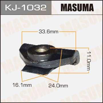 Клипса автомобильная (автокрепеж), уп. 50 шт. Masuma KJ-1032
