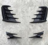 Накладки на передний бампер с ДХО и на задние катафоты Takizawa для Toyota C-HR