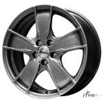 Диск колесный iFree Мохито 6.5xR16 5x110 ET39 ЦО65.1 серый тёмный глянцевый 146505