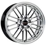 Диск колесный Borbet CW2 8xR17 5x112 ET45 ЦО72.5 серебристый с полированным ободом 221050