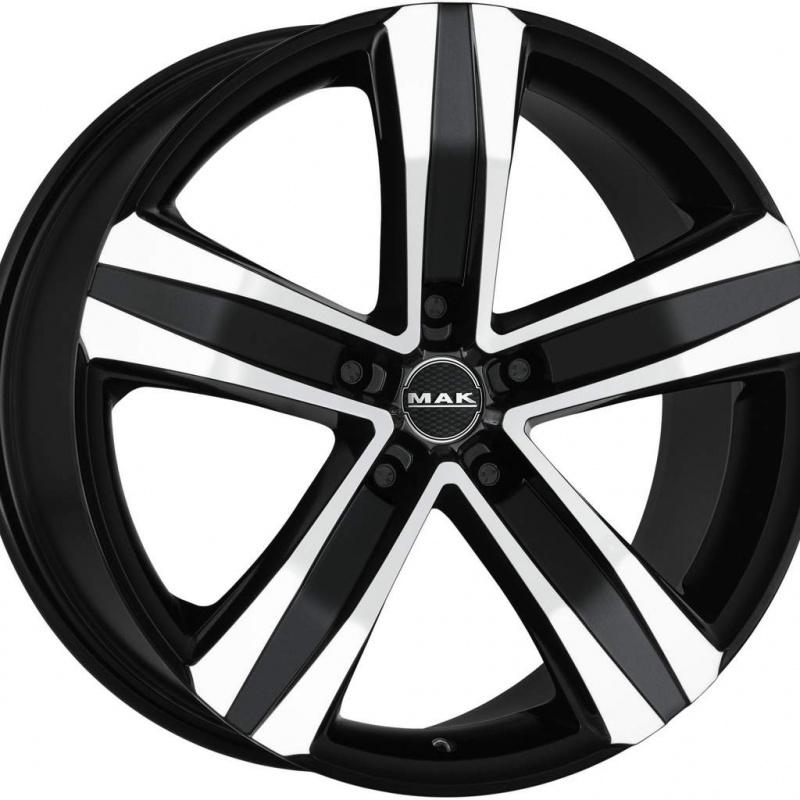 Диск колесный MAK Stone 5 T 8,5xR20 5x127 ET35 ЦО71,6 черный глянцевый с полированной лицевой частью F85205NBM35C3YX