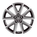 Диск колесный Fondmetal 7 600 7,5xR17 5x112 ET48 ЦО67,2 серый с полированной лицевой частью 7600 7517485112ZTA2