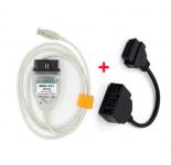 Диагностический мини-разъем Mini VCI V13.00.022 J2534 и кабель 16Pin/22Pin