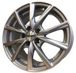 Диск колесный Carwel Гамма 115 6xR15 5x112 ET43 ЦО66.6 серебристый 033593