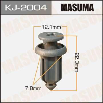 Клипса автомобильная (автокрепеж) салонная серая, уп. 50 шт. Masuma KJ-2004