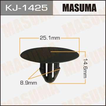 Клипса автомобильная (автокрепеж), уп. 50 шт. Masuma KJ-1425