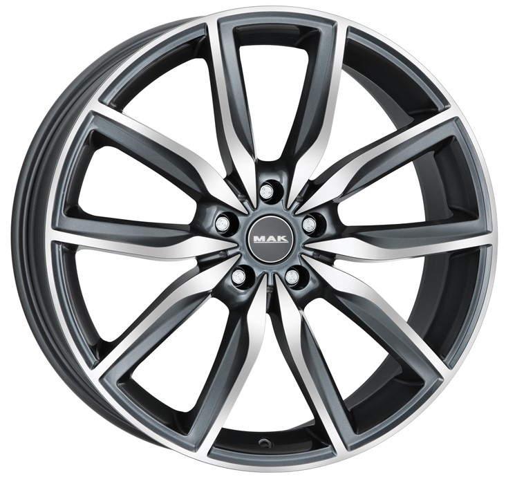 Диск колесный MAK Allianz 8xR19 5x112 ET54 ЦО66,6 серый с полированной лицевой частью F8090AZQM54WS5X