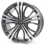Диск колесный OZ Cortina 9,5xR20 5x112 ET52 ЦО79 серый темный матовый с полированной лицевой частью W0188320149