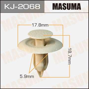 Клипса автомобильная (автокрепеж), 1 шт., Masuma KJ-2068