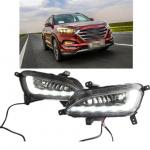 Противотуманные фары с ДХО Mobis  для Hyundai Tucson (2015- по н.в. )
