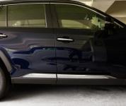 Молдинг боковых дверей (хром) GPPower для Toyota RAV4 (Тойота РАВ4) 2019 -