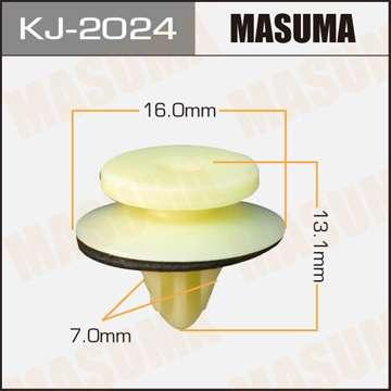 Клипса автомобильная (автокрепеж), уп. 50 шт. Masuma KJ-2024