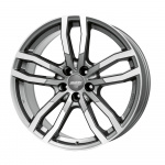 Диск колесный Alutec DriveX 9,5xR21 5x108 ET35 ЦО63,4 серый темный с полированной лицевой частью DRVX-952135F57-91