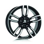 Диск колесный Alutec Drive 7,5xR17  5x112 ET27 ЦО66,5 чёрный глянцевый с полированной лицевой частью DRV75727W63-1