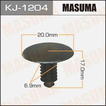 Клипса автомобильная (автокрепеж), уп. 50 шт. Masuma KJ-1204