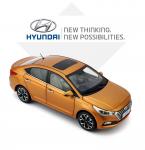 Модель в масштабе 1:18 Hyundai Solaris 2017 -
