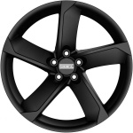 Диск колесный Fondmetal 7 900 6.5xR16 5x114.3 ET36 ЦО66.1 чёрный матовый и хромированные вставки 7900 6516365114CNB
