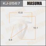 Клипса автомобильная (автокрепеж), уп. 50 шт. Masuma KJ-2567
