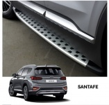 Боковые пороги Genuine Parts для Санта Фе 4 (Hyundai Santa Fe 2018 - 2019)