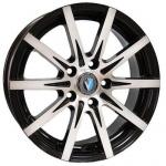Диск колесный Venti 1608 6.5xR16 5x114.3 ET45 ЦО66.1 чёрный с полированной лицевой частью rd832389