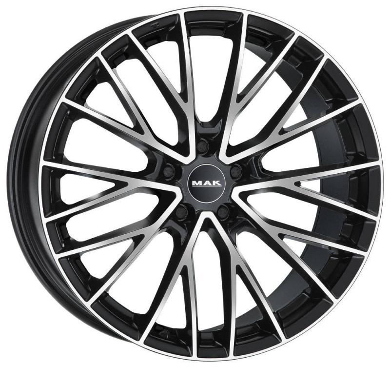 Диск колесный MAK Speciale 9xR22 5x108 ET38,5 ЦО63,4 черный глянцевый с полированной лицевой частью F9022ECBM39GD2X
