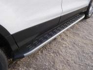 Пороги алюминиевые с пластиковой накладкой TCC FORKUG17-32SL Ford Kuga 2016-