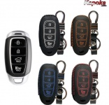 Чехол для ключа кожаный (черный) Kapoka для Hyundai i30N 2019 -