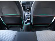 Кожаные накладки на заднюю поверхность передних сидений  для KIA Rio X-Line 2017 -