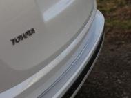 Накладки на задний бампер (лист шлифованный надпись RAV4) ТСС TOYRAV15-09  для Toyota RAV4 2015-